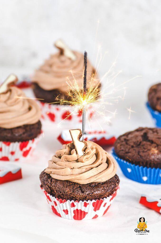 Kinder Schokolade Cupcakes - Back Idee zum Kindergeburtstag