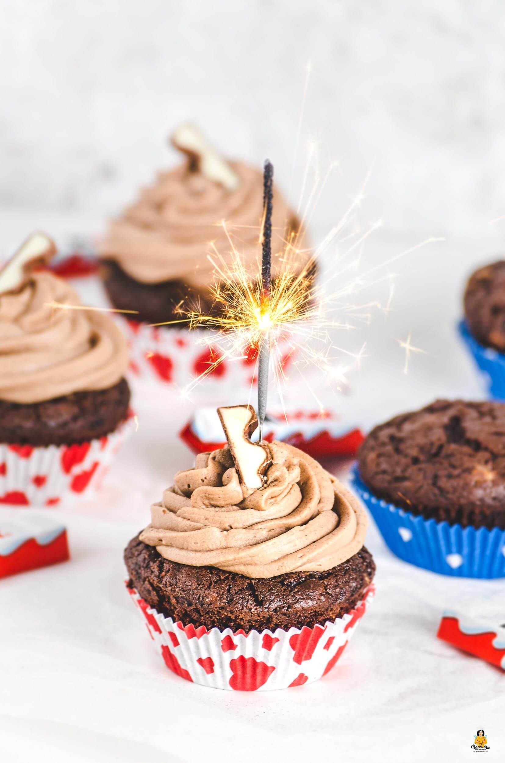 Kindheitserinnerungen: kinder Schokolade Muffins und Cupcakes