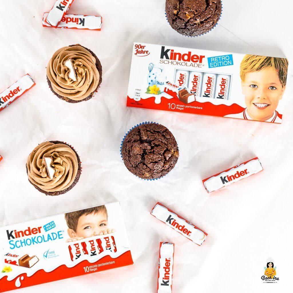 Kinder Schokolade Cupcakes selber machen
