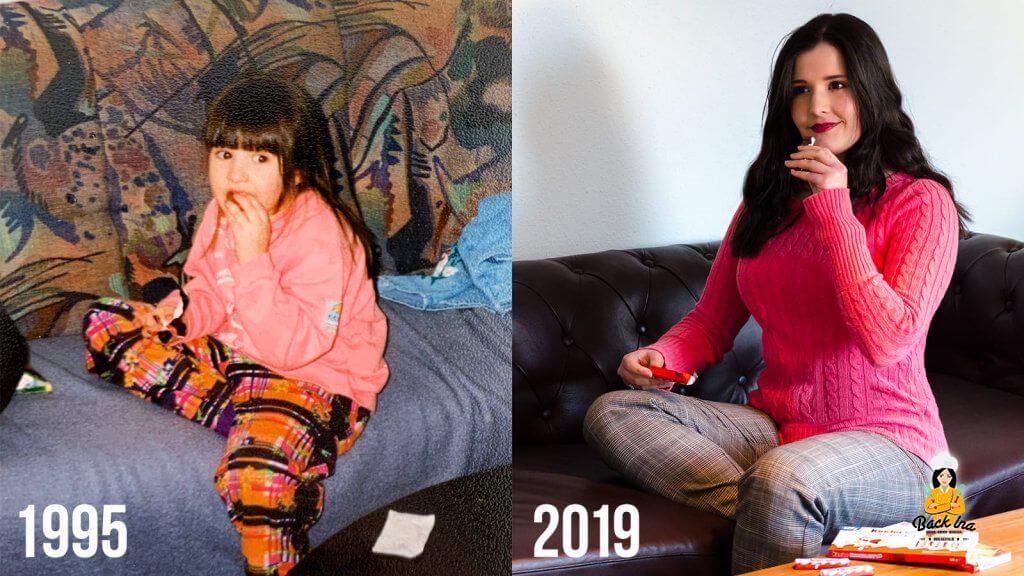 Kinder Schokolade in den 90ern und heute