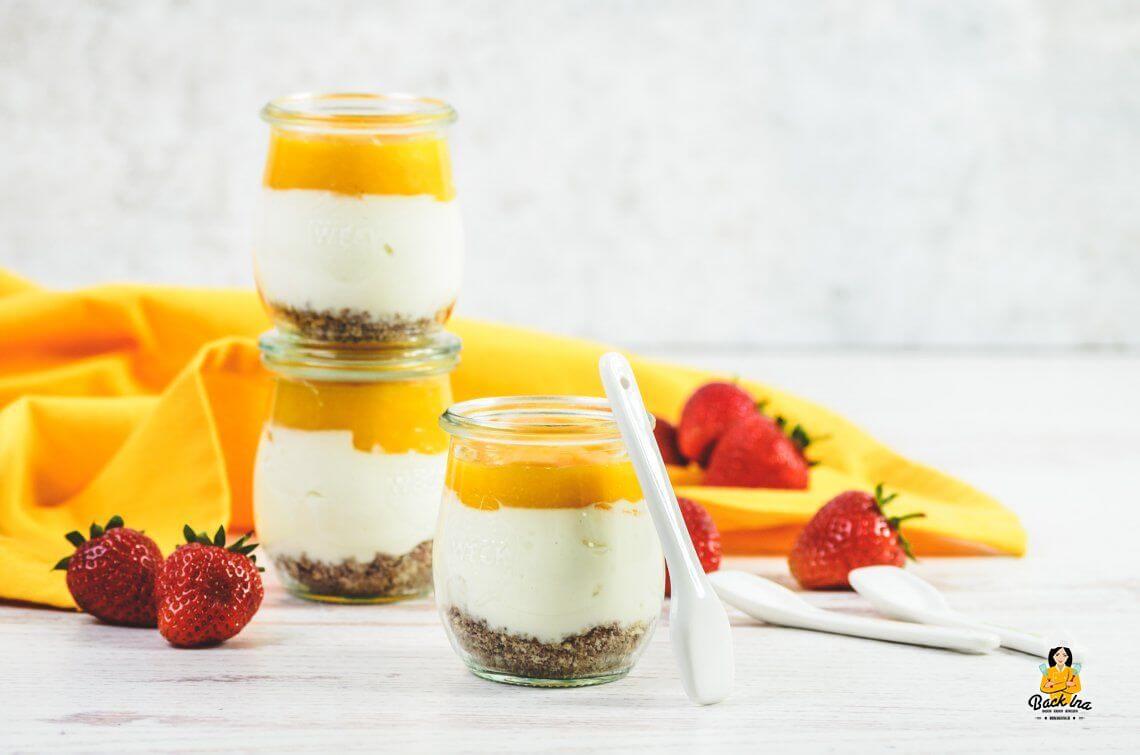 Sonne im Glas! (Mango Cheesecake Dessert im Glas)