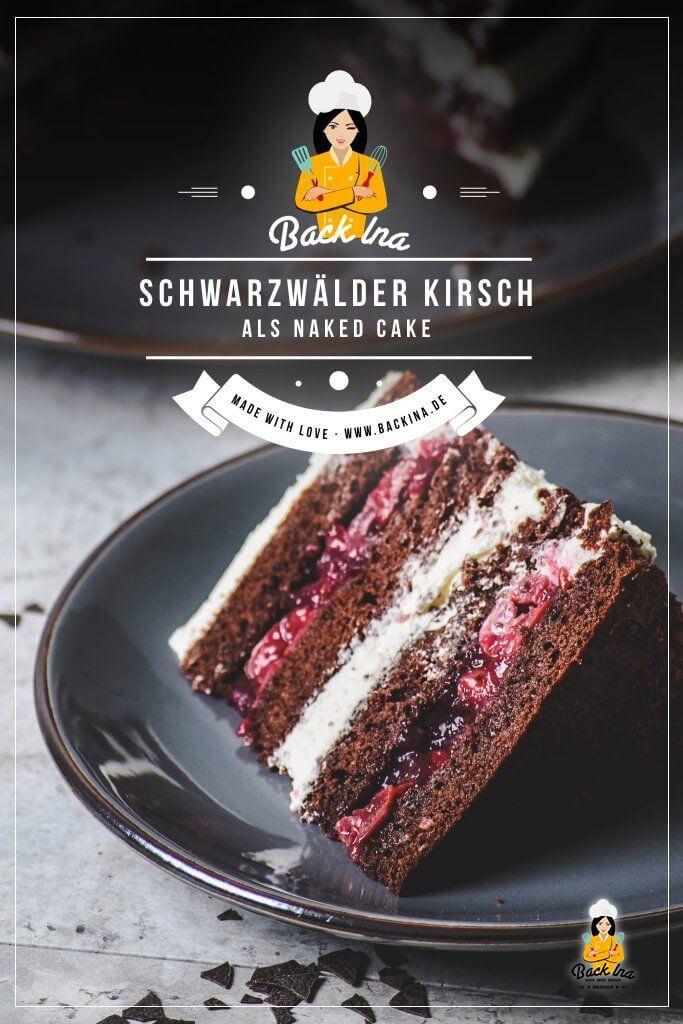 Möchstest du eine Schwarzwälder Kirschtorte backen? Suchst du eine neue Variante vom bekannten Tortenklassiker? Dann ist mein Schwarzwälder Naked Cake genau richtig für dich! Saftiger Schoko-Teig, dazu eine aromatische Kirschfüllung, Sahne und Kirschwasser machen diese Sahnetorte unwiderstehlich! Perfekt als Naked Cake für Geburtstage und Hochzeiten, wenn der Beschenkte Schwarzwälder Kirschtorte liebt