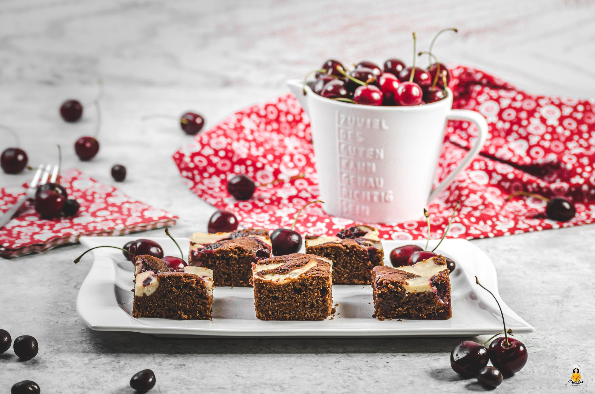 Kirsch-Brownies mit Cheesecake-Swirl | BackIna.de