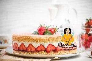 Einfache, aber effektvolle Erdbeertorte mit Mandeln: So hast du Erdbeerkuchen noch nicht gegessen!