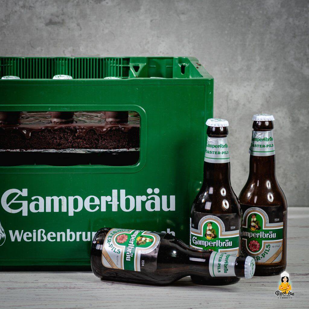 Männertorte mit Bier: Bierkasten-Torte