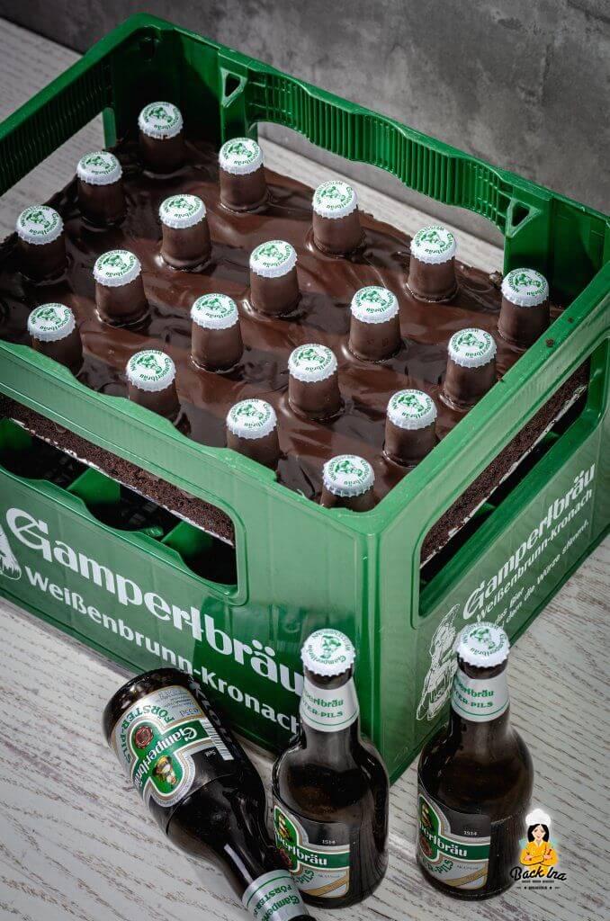 Bierkasten-Torte: Einfache Männertorte für Bierliebhaber