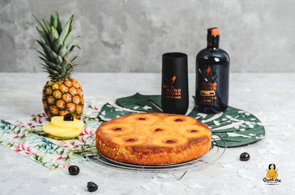Einfacher Rührkuchen für den Sommer: Pineapple Upside Down Kuchen mit Spiced Rum