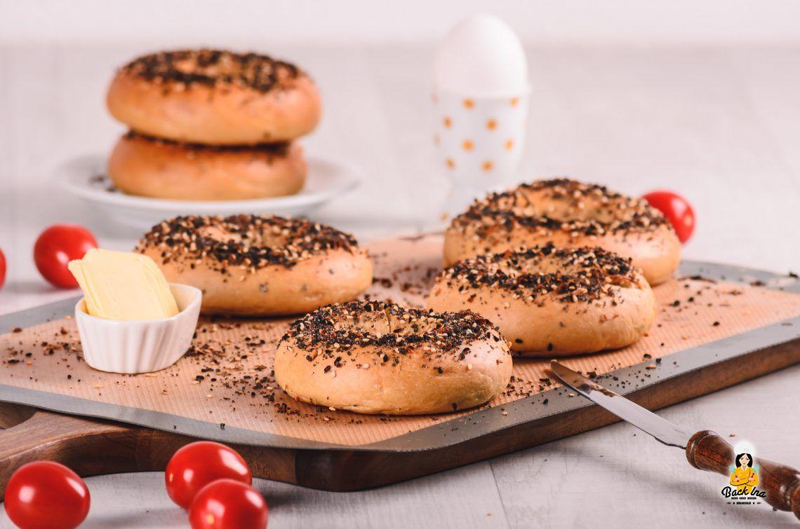 Tag des deutschen Butterbrotes 2019: Everthing Bagel mit Butter