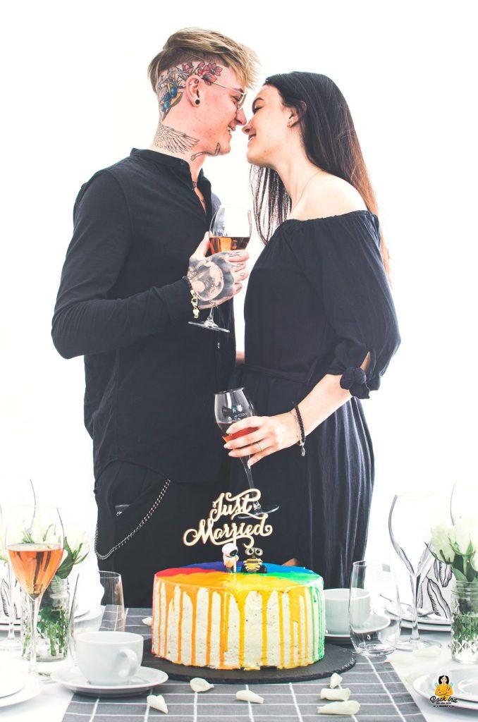 Hochzeitstorte für eine LGBTQ-Hochzeit