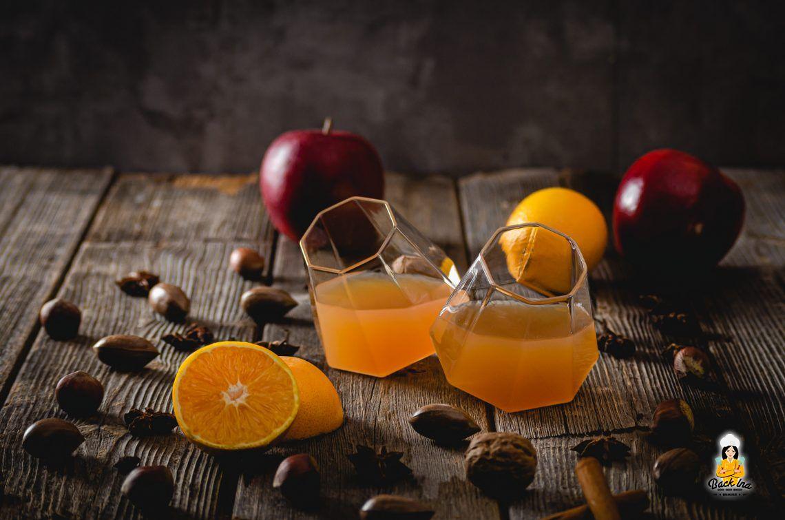 Seelenwärmer (Apfelpunsch mit Orange, Rum und Cidre)