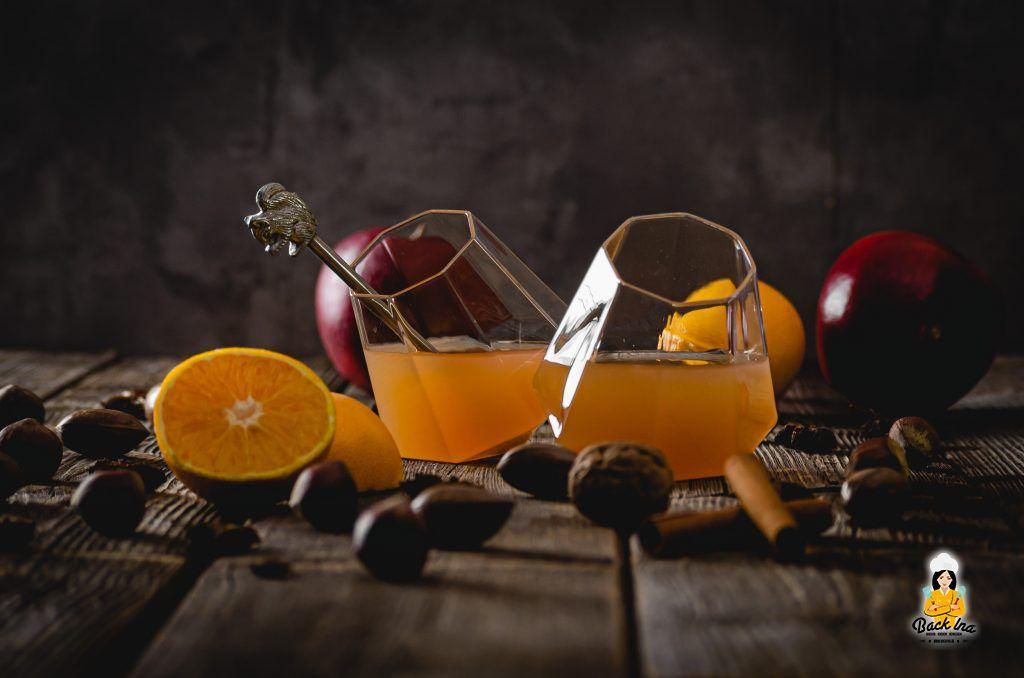 Frucht-Punsch mit Apfel und Orange selber machen