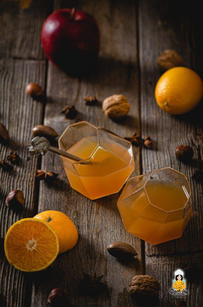 Punsch selber machen mit Apfel und Orange