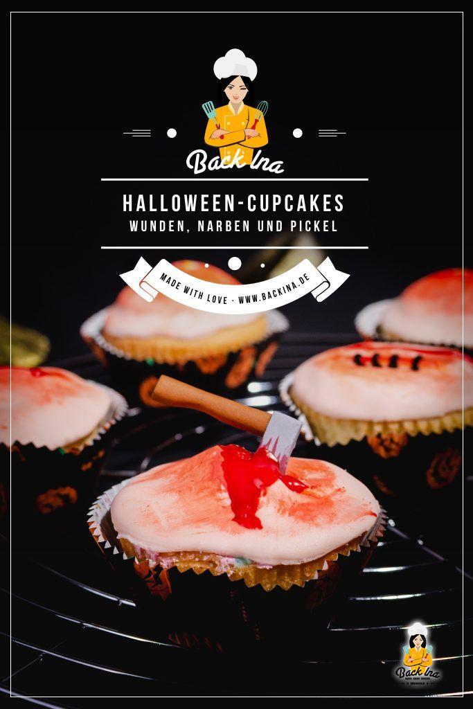 Suchst du eklige Cupcakes für Halloween? Diese Wunden und Pickel Cupcakes sind der absolute Schocker auf deinem Halloween Buffet. Eine süße Idee für den grusligen Feiertag - und dabei schnell und einfach zu machen! | BackIna.de