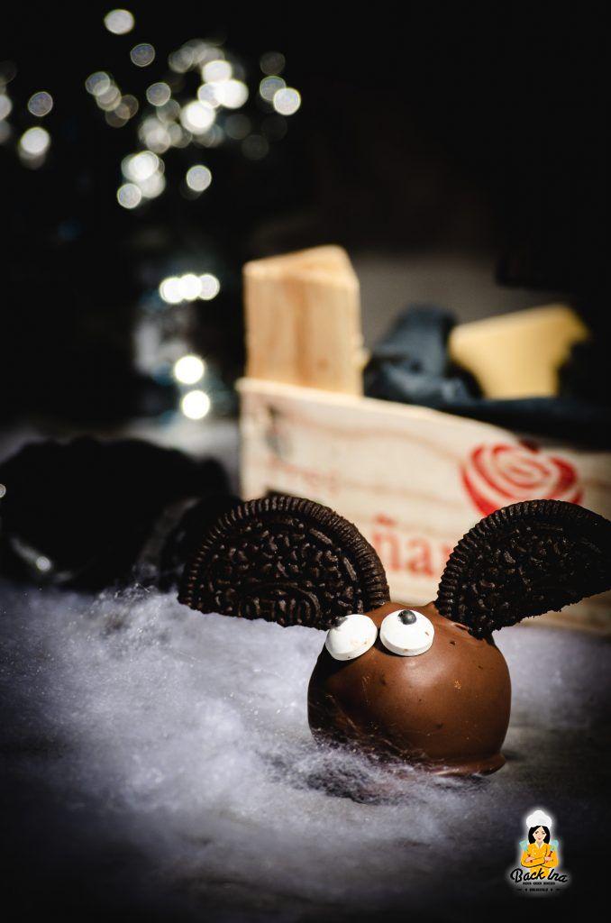 Fledermaus Cakepops - einfache Halloween Idee aus 4 Zutaten