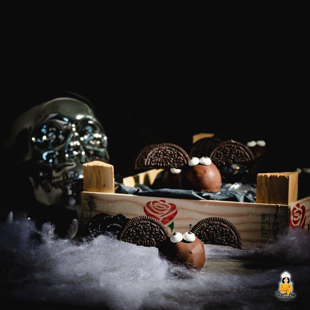 Fledermaus Cakepops - kinderfreundliche Idee zu Halloween