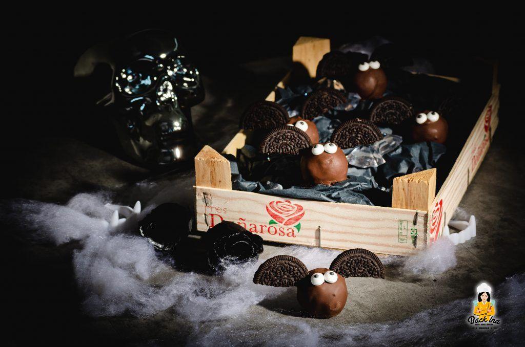 Fledermaus Cakepops zu Halloween