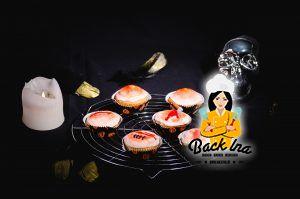 Halloween Cupcakes: Wunden und Pickel aus Fondant
