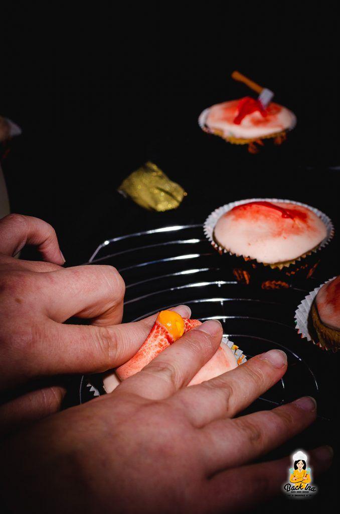 Pickel Cupcakes für Halloween: Einfach und garantiert ein Schocker auf dem Halloween Buffet