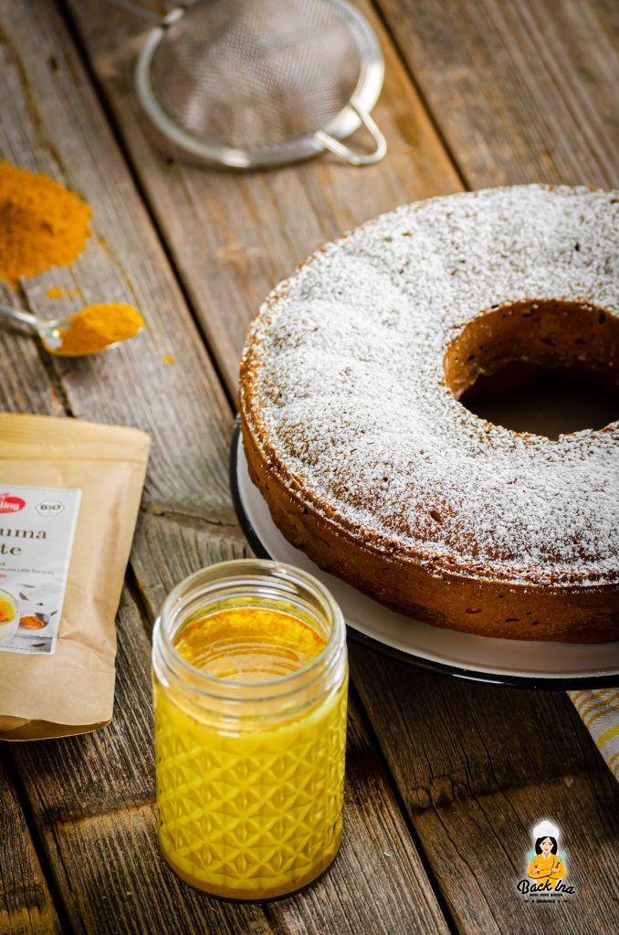 Golden Milk im Kuchen: Veganer Rührkuchen mit Kurkuma Latte Gewürz von Keimling