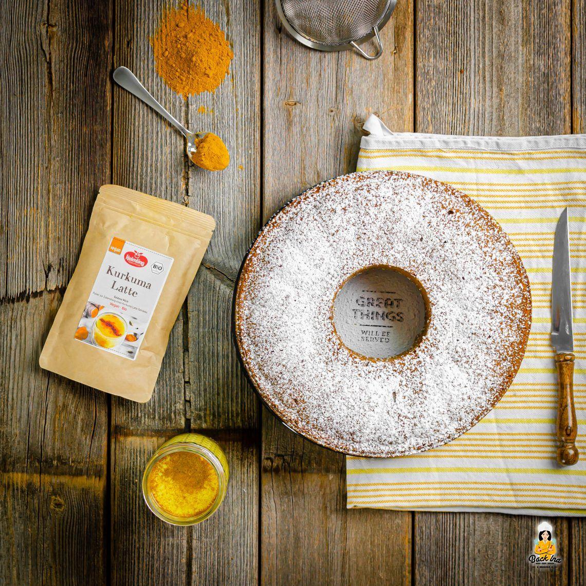 Goldener Herbst (Veganer Goldene Milch Kuchen)
