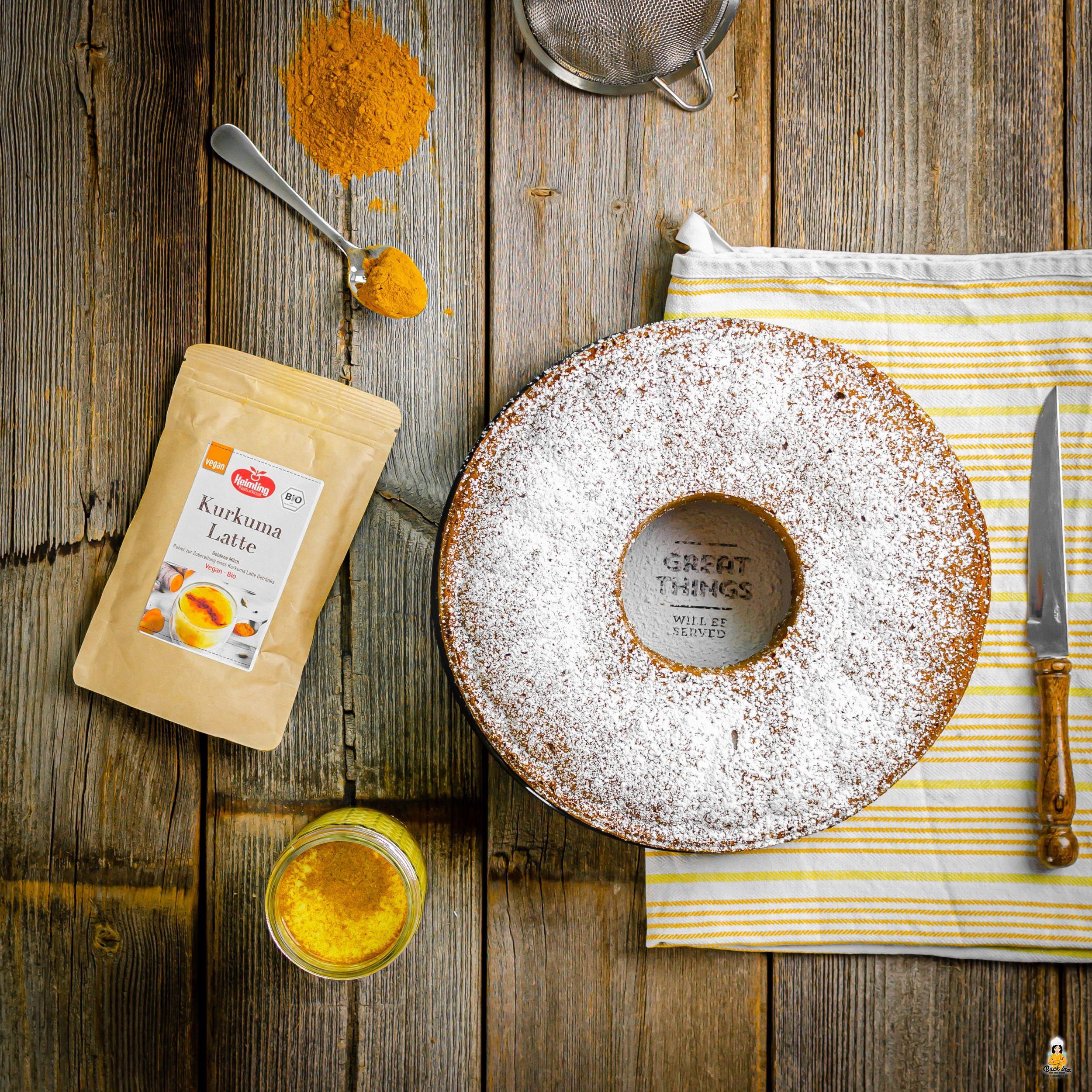Veganer Goldene Milch Kuchen: Perfekt für den Herbst | BACKINA