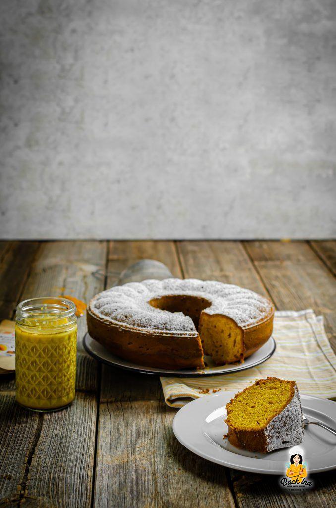 Goldene Milch Kuchen: Veganer Rührkuchen mit Kurkuma