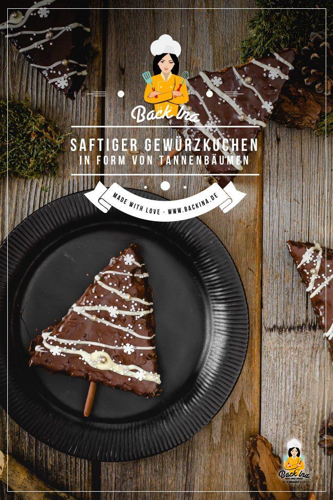 Suchst du eine tolle Idee für deinen Adventskaffee oder das Kaffeetrinken an Weihnachten? Dieser lockere Gewürzkuchen in Form von Tannenbäumen ist einfach zuzubereiten, aber eine tolle Backidee zu Weihnachten! Deine Gäste werden sich über dieses Weihnachtsgebäck mit Schokolade freuen! | BackIna.de