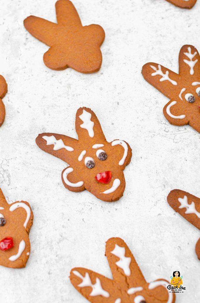 Rudolph, das Rentier aus Plätzchenteig - so machst du Rentier Honigkuchen ganz einfach selber