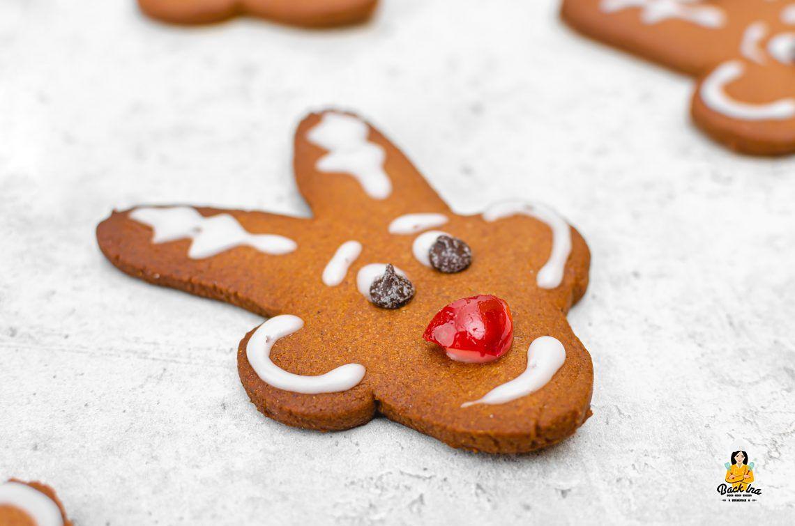 Essbarer Rudolph (Honigkuchen Rentiere)