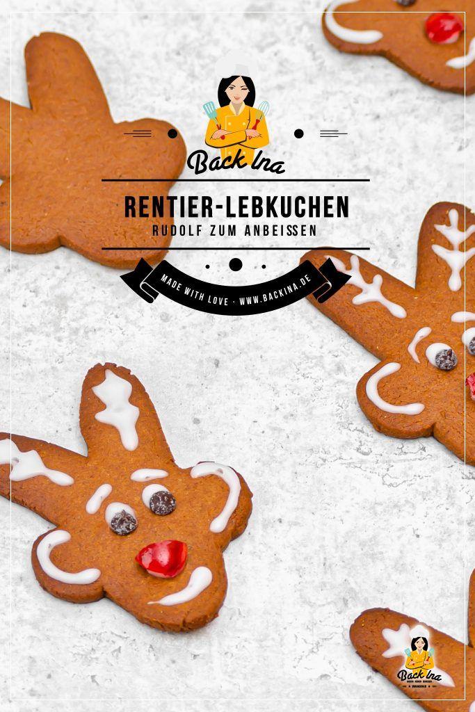 Suchst du Plätzchen, die du gut mit Kindern machen kannst? Diese Rentier Kekse werden euch begeistern! Saftiger Honigkuchen nach einem Rezept von Tupperware, verziert als Rudolph mit der roten Nase - eine ideale Last Minute Idee für die Weihnachtsferien! | BackIna.de
