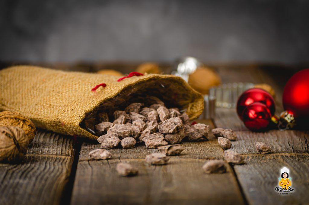 Schoko Mandeln mit Lebkuchengeschmack selber machen - tolle Idee für ein Geschenk aus der Küche