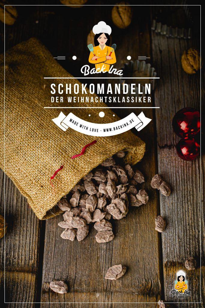 Magst du Weihnachtsmandeln mit Schokolade und Lebkuchengewürz? Diese Leckerei musst du nicht kaufen, sondern kannst sie ganz leicht selber machen! Ich zeige dir, wie du diese als Geschenk aus der Küche in nur wenigen Minuten zubereiten kannst. | BackIna.de