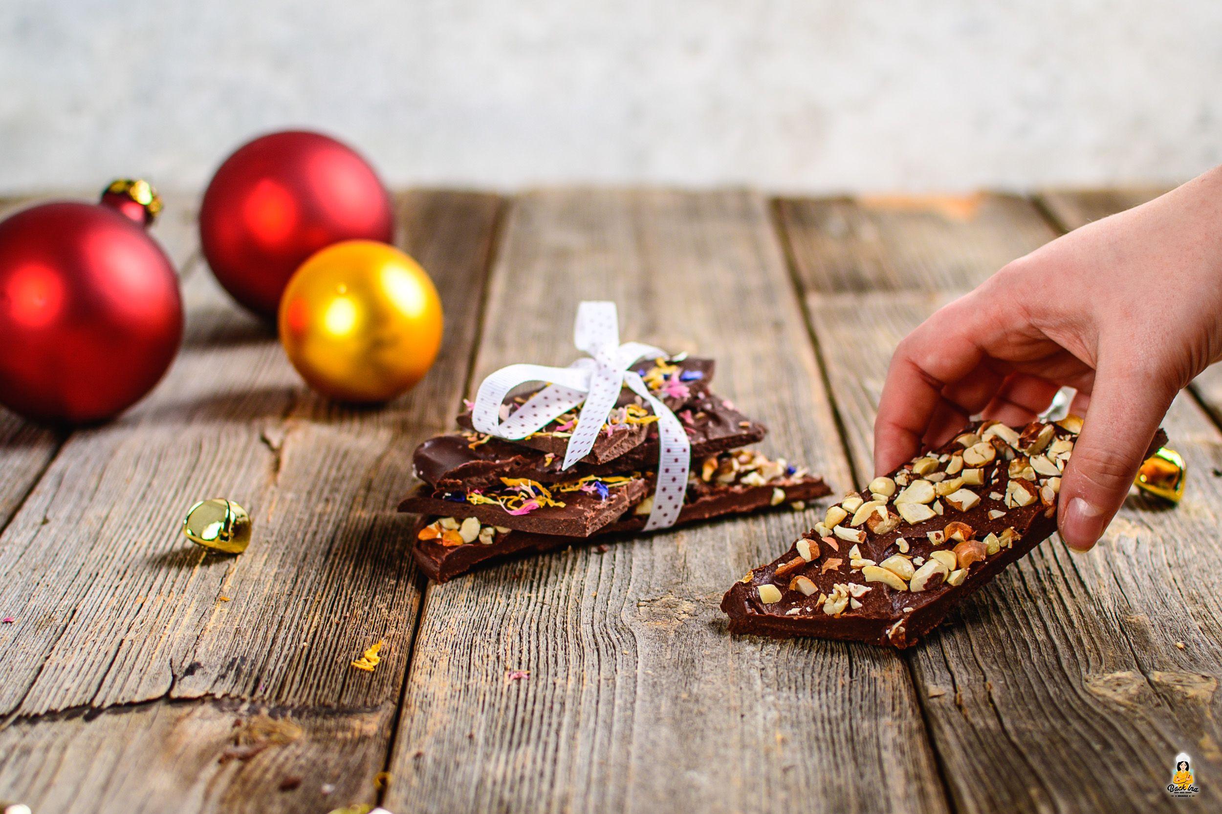 Schokolade selber machen - mit 3 Zutaten (vegan) | BACKINA