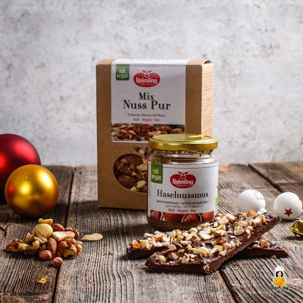 Vegane Weihnachtsschokolade selber machen