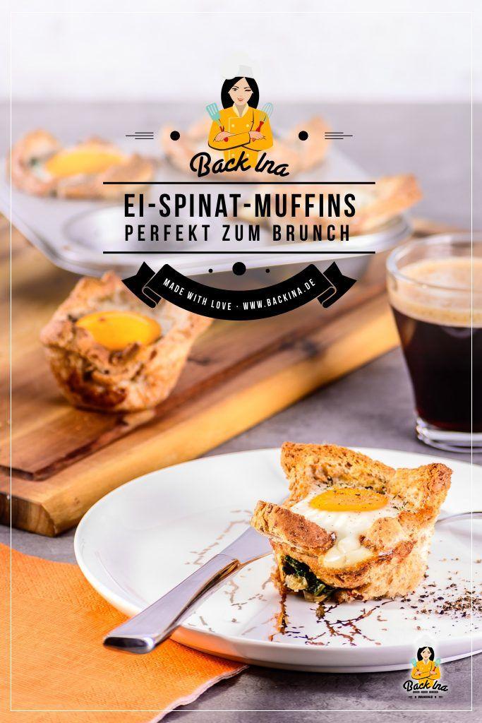 Suchst du eine besondere Idee zum Brunch? Wie wäre es mit diesen Ei-Spinat-Muffins? Cremiger Spinat, wachsweiches Ei und knuspriger Toast - dieser herzhafte Muffin hat alles, was ein gutes Frühstück braucht. Dabei ist es einfach zu machen und gut vorzubereiten - perfekt also als Idee für dein nächstes Frühstücksbuffet oder zum Osterbrunch! | BackIna.de