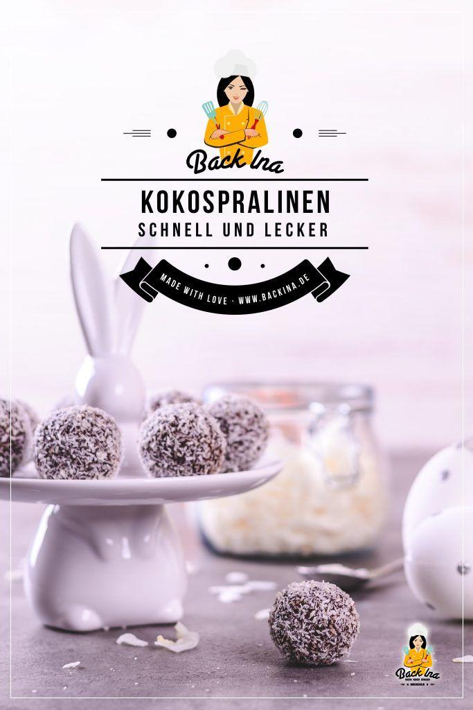 Super einfache und leckere Schoko-Kokos-Pralinen selber machen - das geht in nur 20 Minuten! Die Kombination aus Schokolade und Kokos schmeckt einfach super und ganz anders als alles, was du kennst. Probiere diese Pralinen unbedingt - ideal auch als Geschenk aus der Küche! Rezept nach Melissa Forti. | BackIna.de