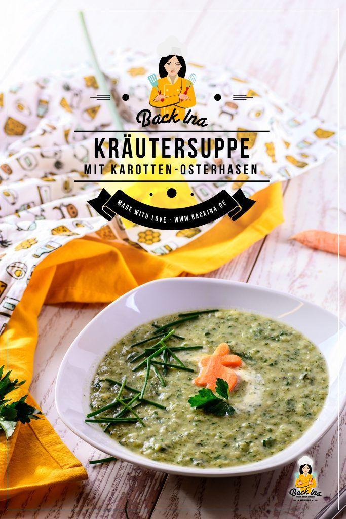 Frisch, frühlingshaft und österlich dekoriert - diese Kräuter-Suppe ist die perfekte Vorspeise zu Ostern! Probier diese aromatische Suppe mal aus :)