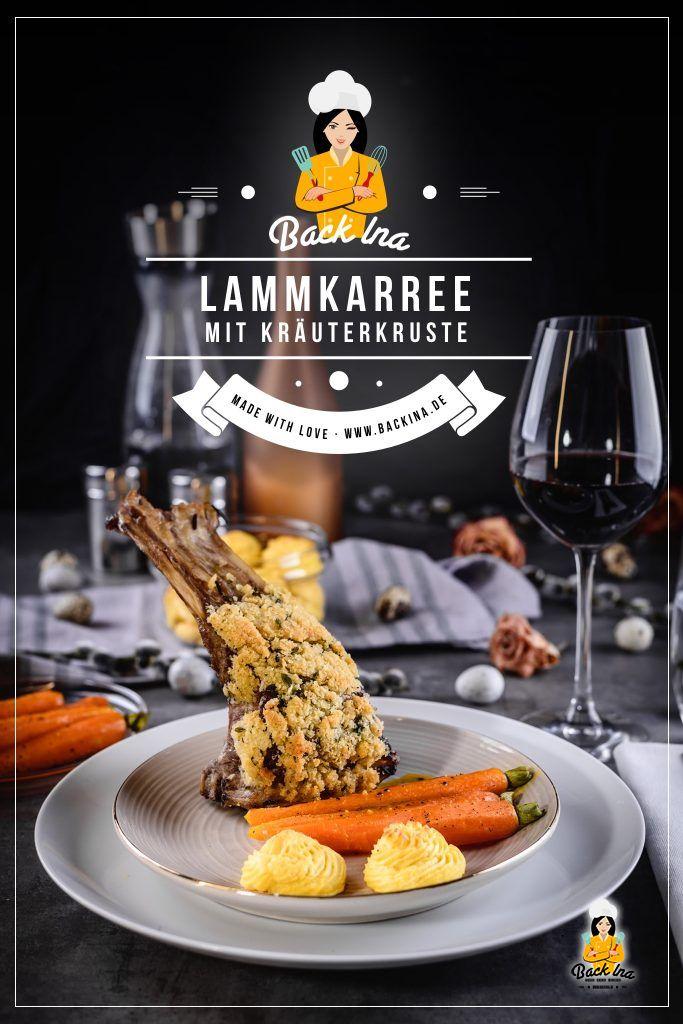Du hast Lust auf ein ausgefallenes Gericht zu Ostern? Wie wäre es mit Lammkarree mit Kräuterkruste, Zitrus-Möhren und selbstgemachten Herzoginkartoffeln?