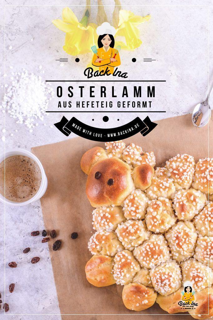 Suchst du ein einfaches Rezept für deinen Osterbrunch? Dieses Hefeteig Osterlamm lässt sich gut mit Kindern vorbereiten und ist eine gute Abwechslung zum normalen Osterlamm und zum Osterzopf. | BackIna.de