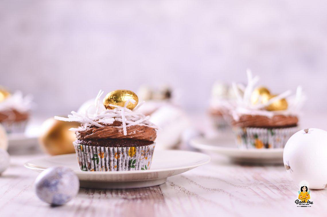 Nistplatz (Osternest Cupcakes)