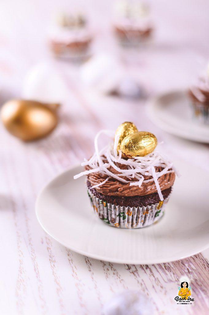 Cupcakes zu Ostern - die Schoko Osternest Cupcakes