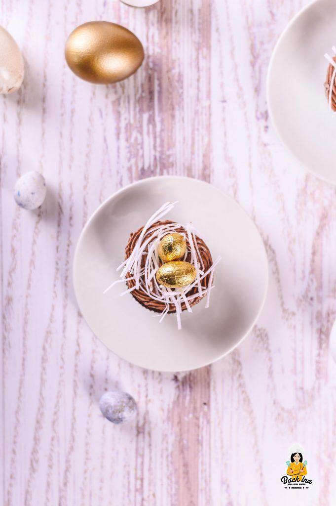 Schoko Cupcakes mit Osterdeko
