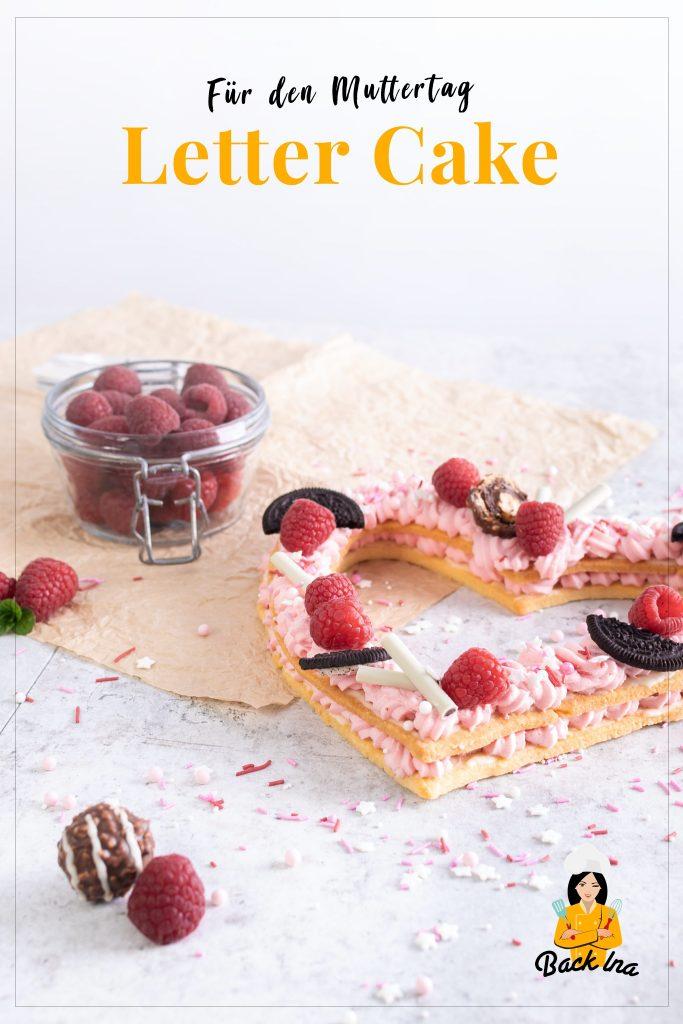 Suchst du ein besonderes Geschenk zum Muttertag oder Valentinstag? Dieser Letter Cake bzw. Number Cake in Form eines Herzens ist genau richtig als Geschenk aus der Küche! Knackiger Mürbeteig und eine fruchtige Creme, Süßigkeiten und Beeren als Deko - und dabei geht dieser Letter Cake einfach zu machen. Probier es aus!   BackIna.de