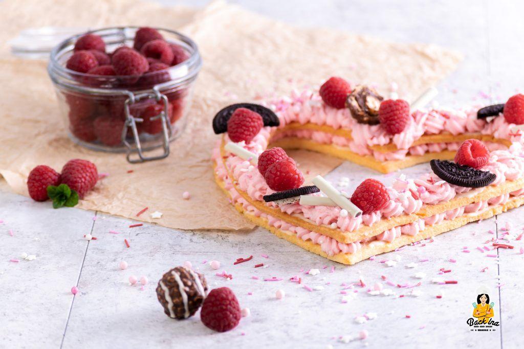 Mürbeteig Herz - Letter Cake zum Muttertag