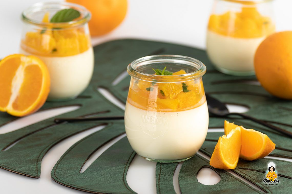 Food in Motion 5/2020: Panna Cotta mit Orange und Minze