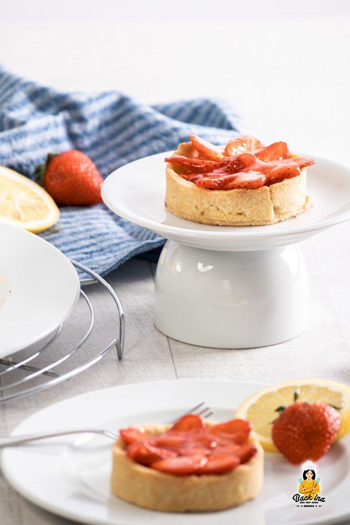 Erdbeerkuchen mal anders: Mürbeteig Tartelettes mit Erdbeeren und Zitrone
