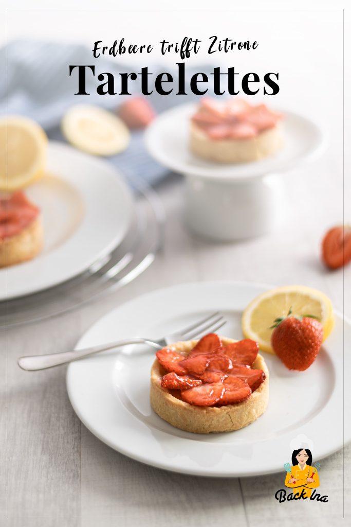Suchst du eine besondere Idee für Erdbeerkuchen? Diese Erdbeere Tartelettes mit Zitronencreme sind perfekt für den Frühling! Probiere dieses Gebäck mit Erdbeeren unbedingt aus! | BackIna.de