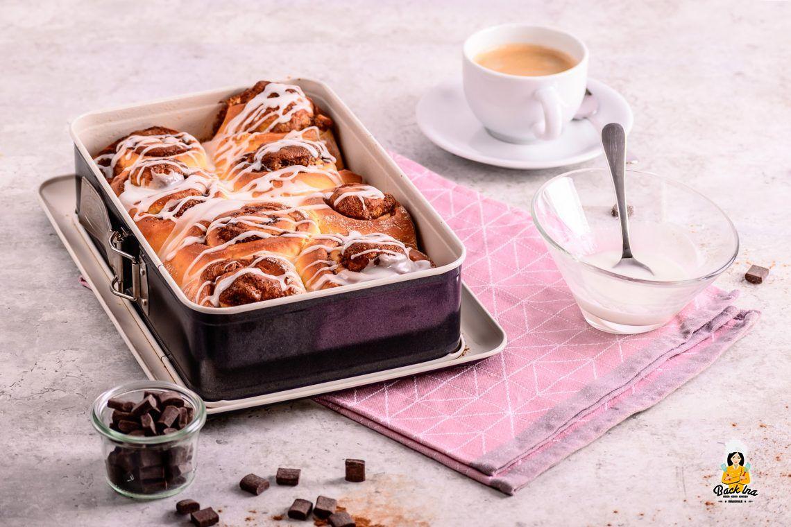 Verführerische Zimtrollen (Cinnamon Rolls mit Cookie Dough)
