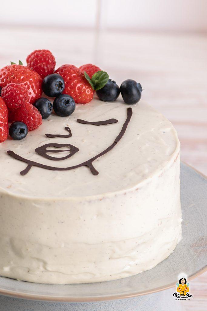 Beerentorte als Face Cake