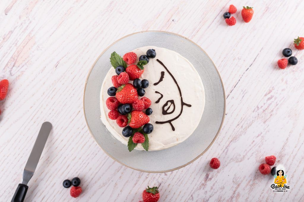 Beerentorte mit Prosecco - Face Cake